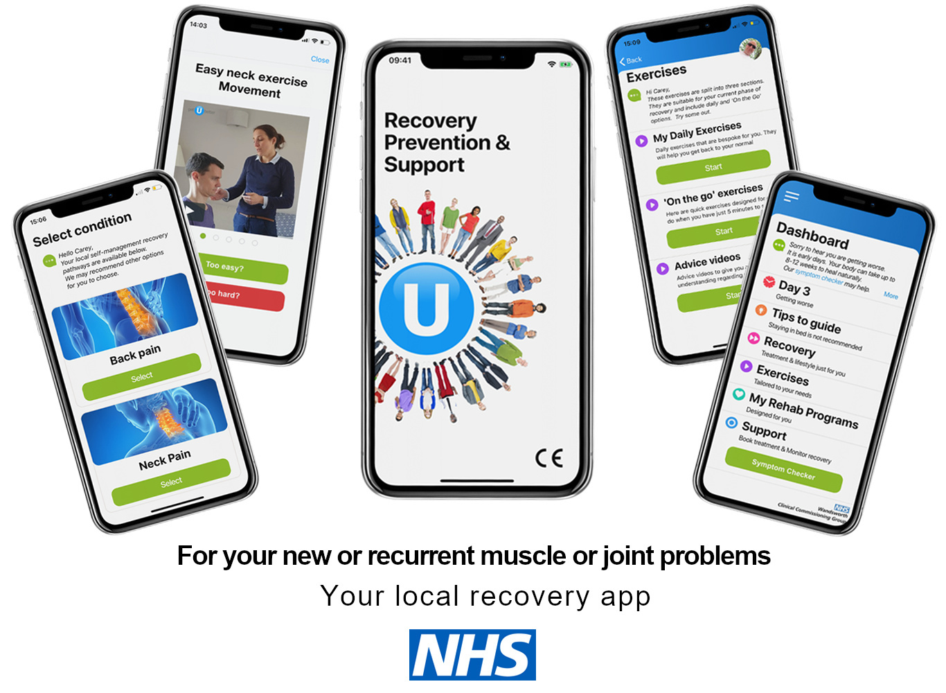 For your new or recurrent muscle or joint problems. Your local recovery app